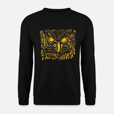 Ghost Ghost Animal: Owl Gym Shirt Nightworm Gift - Men's Sweatshirt