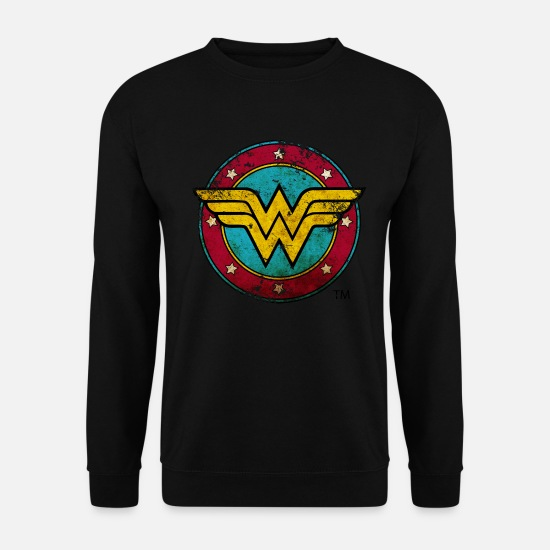 Elle Sweat-shirts - Wonder Woman Logo Vintage Femme Tee Shirt - Sweat-shirt Unisex noir