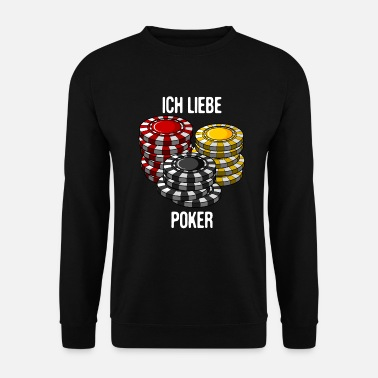 Pokerface J'adore le poker pokerface texas holdem cadeau - Sweat-shirt Homme