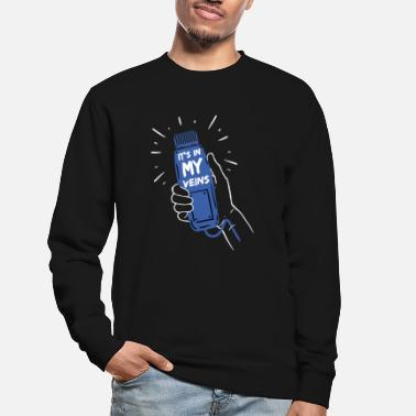 Haircutter It's in my Veins Hairstylist Hairdresser Scissors - Unisex Sweatshirt