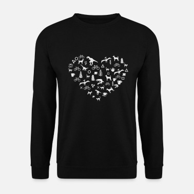 Marry Heart For Dinosaur Cats Dogs Coffee - Unisex Sweatshirt