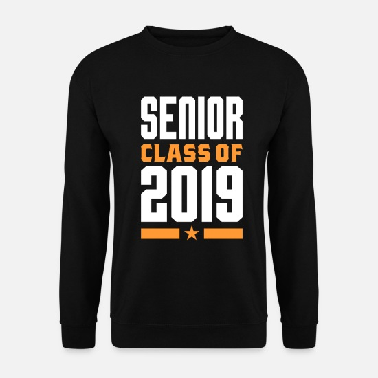 Sénior Sweat-shirts - Classe Senior de 2019 - Sweat-shirt Homme noir