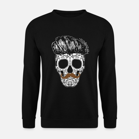 Hair Hoodies & Sweatshirts - Sugarskull Hipster - Men's Sweatshirt black