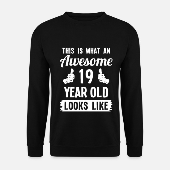 Teenager Pullover & Hoodies - This Is What An Awesome 19 Year Old Looks Like - Männer Pullover Schwarz