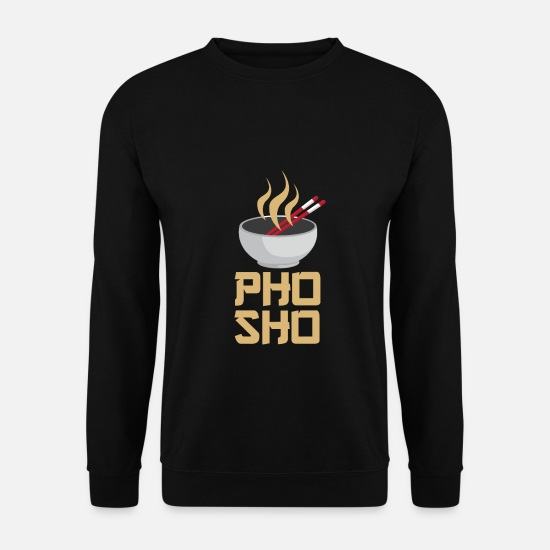 Riz Sweat-shirts - Pho Sho - La nourriture en Asie - Sweat-shirt Homme noir