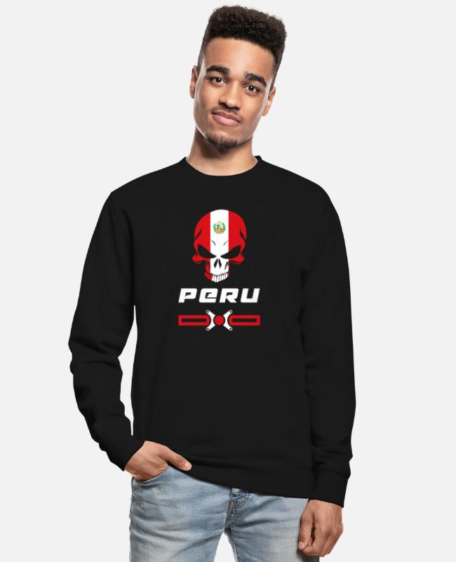 South America Hoodies & Sweatshirts - Peru skull design / gift idea - Unisex Sweatshirt black
