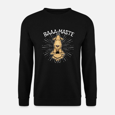 Baaa-Maste fun goat yoga hindu meditation chillout - Sweat-shirt Homme