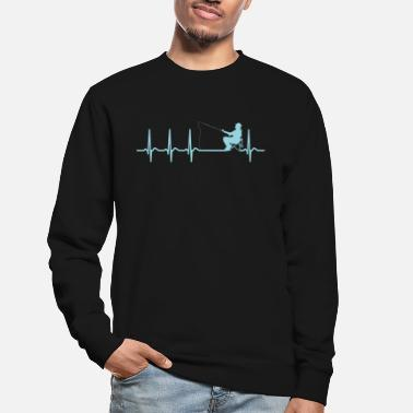 Angler Clothing Heartbeat Fishing Angler Clothing SayingsGift - Unisex Sweatshirt