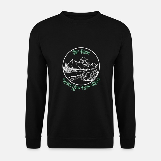 Travel Sweat-shirts - Old School Camping Travel avec le Van RV - Sweat-shirt Homme noir