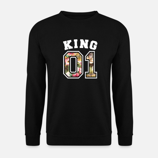 King Queen Sweat-shirts - King 01 - Sweat-shirt Homme noir