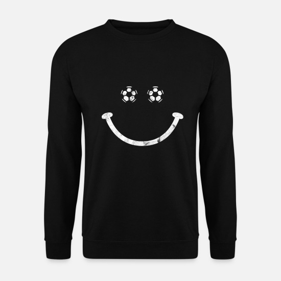 Images Gaies Sweat-shirts - Soccer Smile Funny - Sweat-shirt Unisex noir