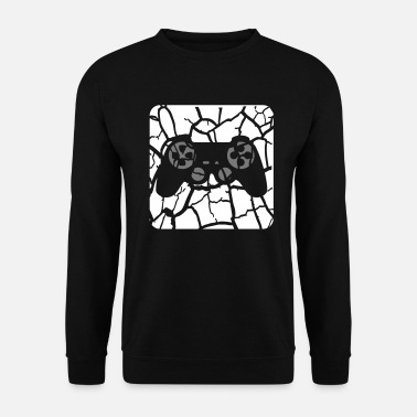 Playing tears scratches button controller play logo design - Men's Sweatshirt