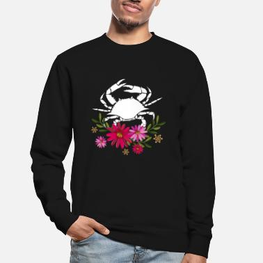 Funny Crab With Flowers - Unisex Sweatshirt
