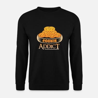 Addicted Cookie Addict Addicted to biscuits - Men's Sweatshirt
