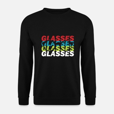Glass Glasses glasses snake - Men's Sweatshirt