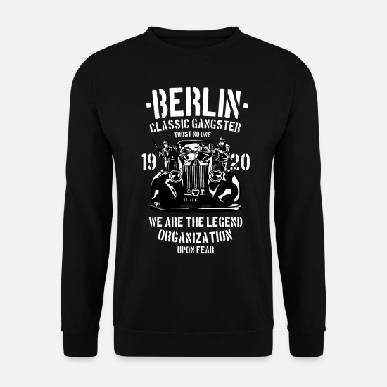 Kreuzberg Sweat-shirts - Berlin Classic Gangster - Sweat-shirt Homme noir