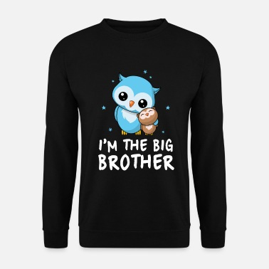 Frère Je suis le grand frère - Big Brother Cute Owls - Sweat-shirt Homme