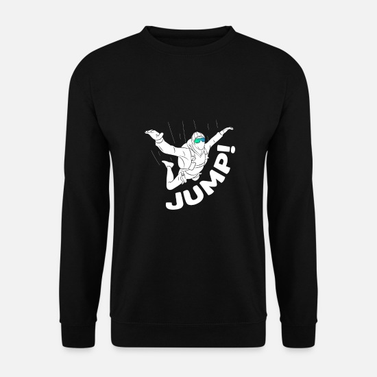 Gift Idea Hoodies & Sweatshirts - Jump! - parachute, adrenalin, jump - Men's Sweatshirt black