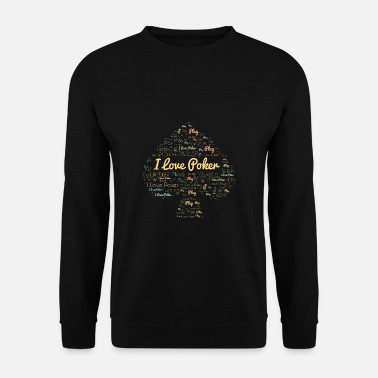 Cards Paroles de poker Pik Love Player Card Gift - Sweat-shirt Homme