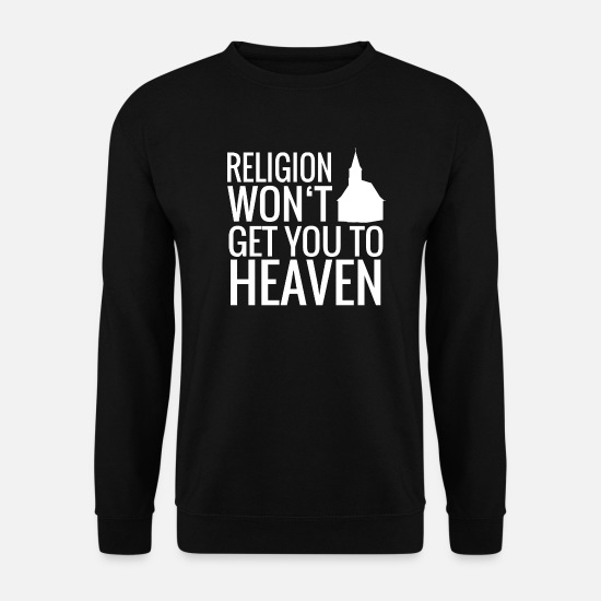 Love Hoodies & Sweatshirts - Religion Church Jesus Christ - Men's Sweatshirt black