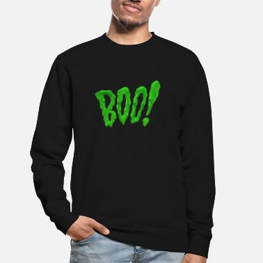 Monster Boo slime green creepy halloween spøgelse spøgelse h - Sweatshirt unisex