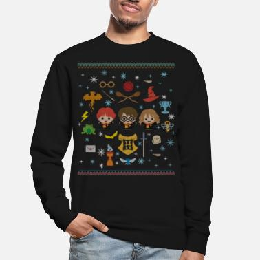 Ugly Christmas Harry Potter Ugly Christmas Chibi Design - Unisex Pullover