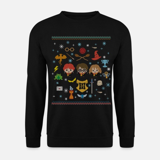 Christmas Pullover & Hoodies - Harry Potter Ugly Christmas Chibi Design - Männer Pullover Schwarz