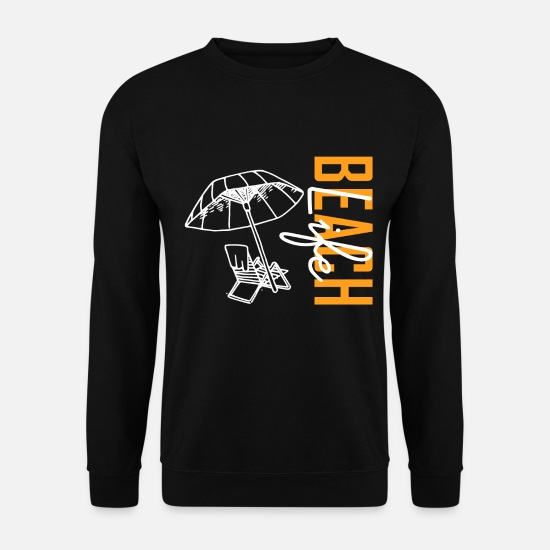 Surfer Sweat-shirts - plage - Sweat-shirt Homme noir
