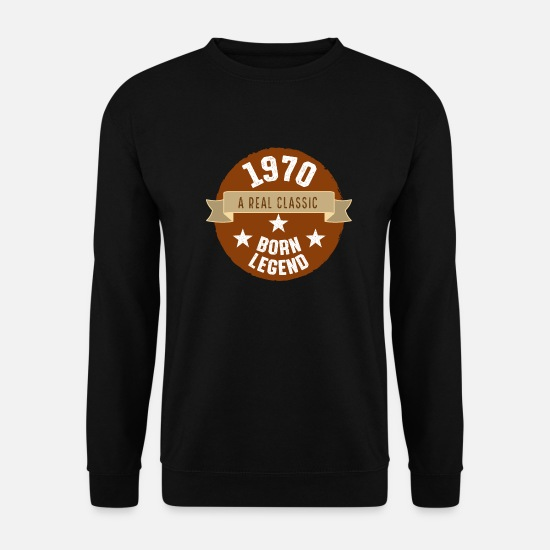 Birthday Hoodies & Sweatshirts - 1970 year of birth - Men's Sweatshirt black
