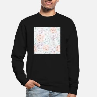 Pattern Abstract Roses Neck Gator Pastel Roses - Unisex Sweatshirt