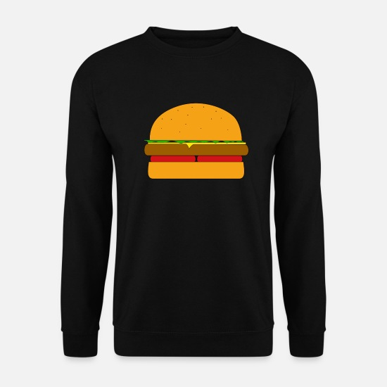Salad Hoodies & Sweatshirts - Hamburger - Men's Sweatshirt black