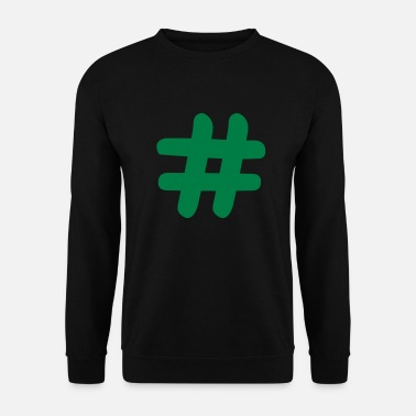Hashing Hash sign / # - Men's Sweatshirt