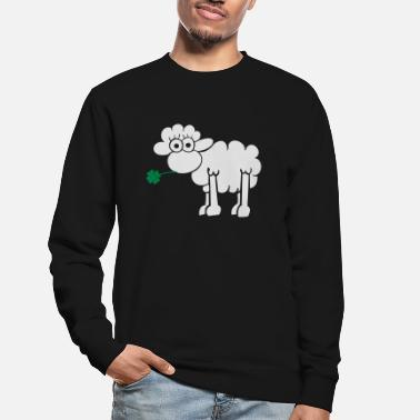 Rebel Sheep with clover for dark shirts - Unisex Sweatshirt