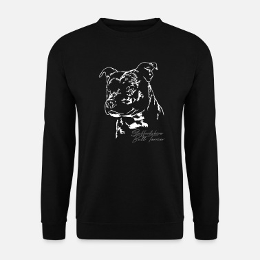 Staffordshire STAFFORDSHIRE BULL TERRIER Portrait Wilsigns - Sweat-shirt Homme