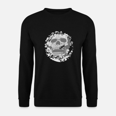 Grey Grey Skull - Men's Sweatshirt