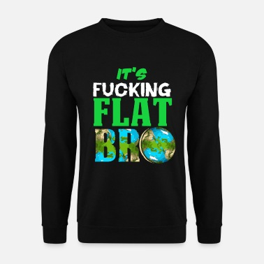 Nerd Flat Earth Society Reptiloid Conspiracy - Men's Sweatshirt