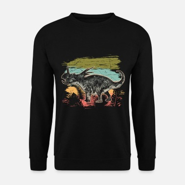 Wilderness Diceratops Dinosaur Wilderness Jungle Fossil - Men's Sweatshirt