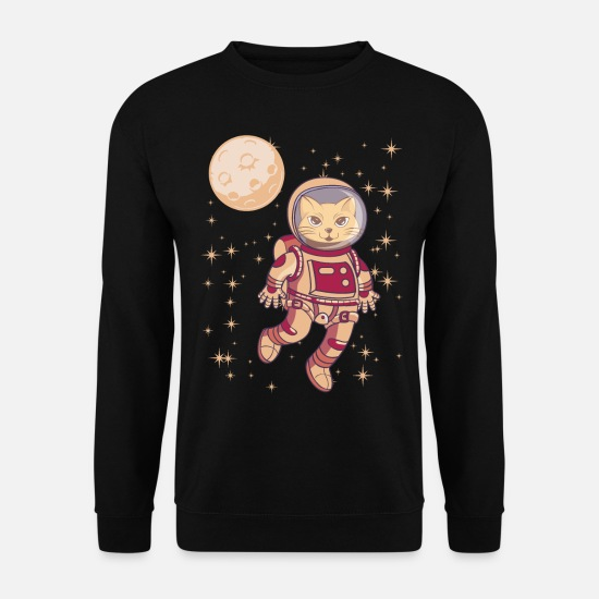 Télescopique Sweat-shirts - Astronomy Astronaut Cat In Space Gift - Sweat-shirt Homme noir