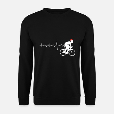Motocross Cyclist BMX heartbeat Christmas present - Men's Sweatshirt