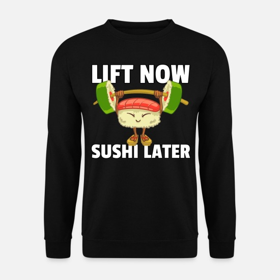 Japanese Hoodies & Sweatshirts - Sushi Sport Fitness Athlete Maki Gym - Men's Sweatshirt black
