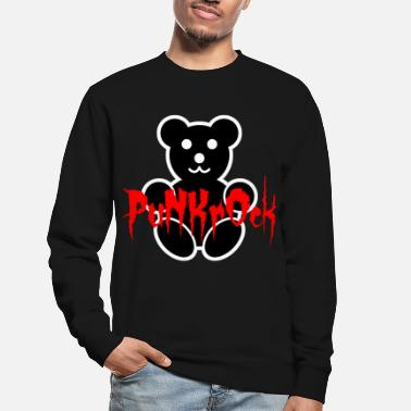 Rude Girl Punk Rock Teddy Bear - Unisex Sweatshirt
