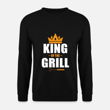Roi Du Barbecue Barbecue barbecue grill roi saison barbecue - Sweat-shirt Homme