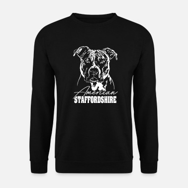 Staffordshire AMERICAN STAFFORDSHIRE TERRIER Portrait Wilsigns - Sweat-shirt Homme