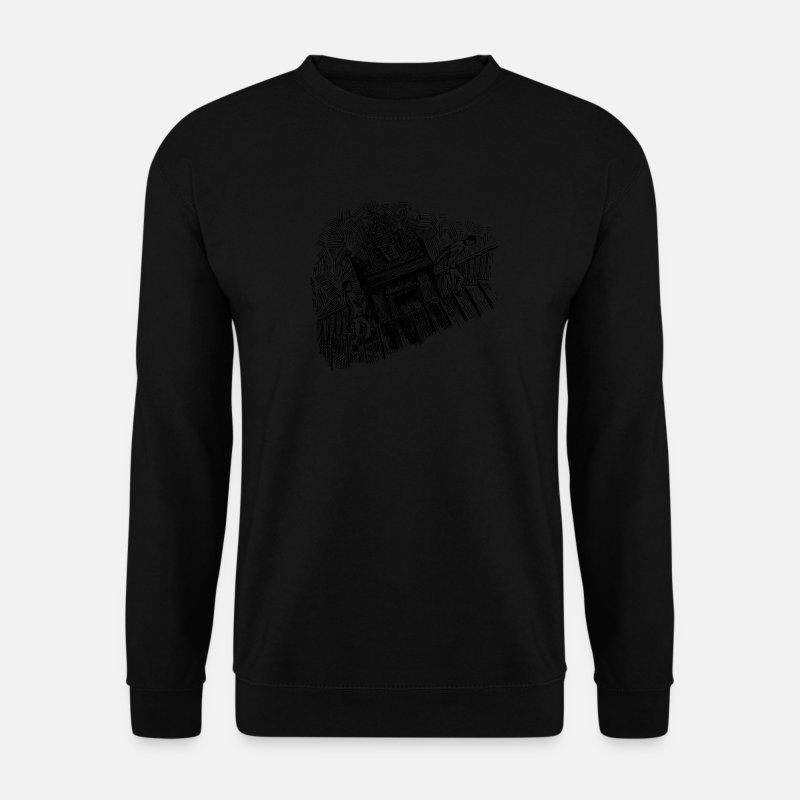 Gift Idea Hoodies & Sweatshirts - A piano - Men's Sweatshirt black
