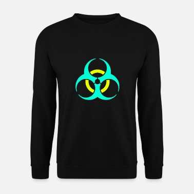 Virus Biohazard virus disease organic symbol sign gift - Men's Sweatshirt
