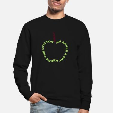 Sundhed an apple a day keeps the doctor away - Sweatshirt unisex