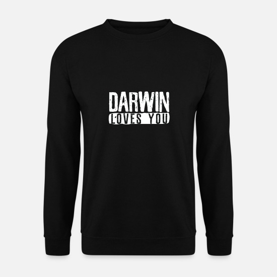 Charles Hoodies & Sweatshirts - Atheist Darwin loves you - Men's Sweatshirt black