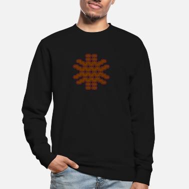 Party Psychedelic Pattern Tee Shirt Geometry Goa Party - Unisex Sweatshirt