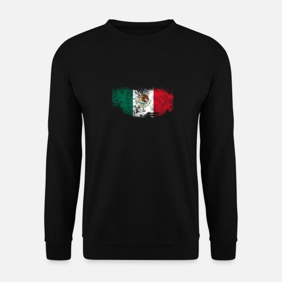 Cuba Sweat-shirts - Drapeau mexicain - Sweat-shirt Homme noir