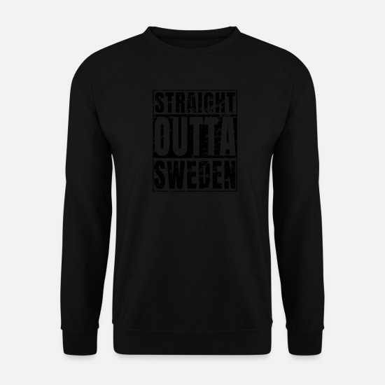 S'aimer Sweat-shirts - Straight Outta Sweden print Suède en détresse - Sweat-shirt Homme noir
